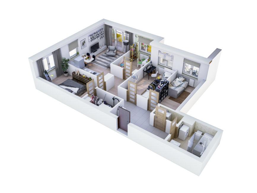 Rzut mieszkania - M37
