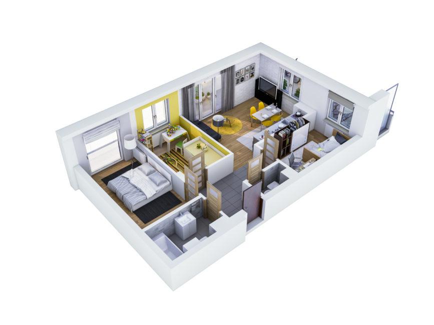 Rzut mieszkania - M38