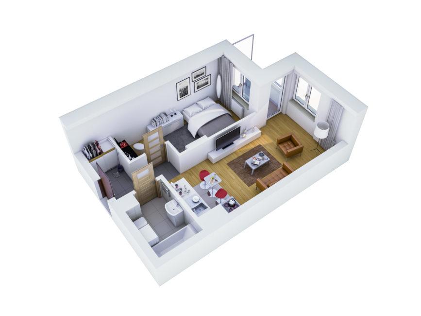 Rzut mieszkania - M40