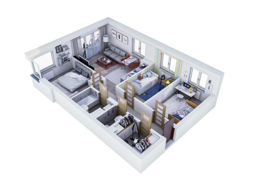 Rzut mieszkania - M41