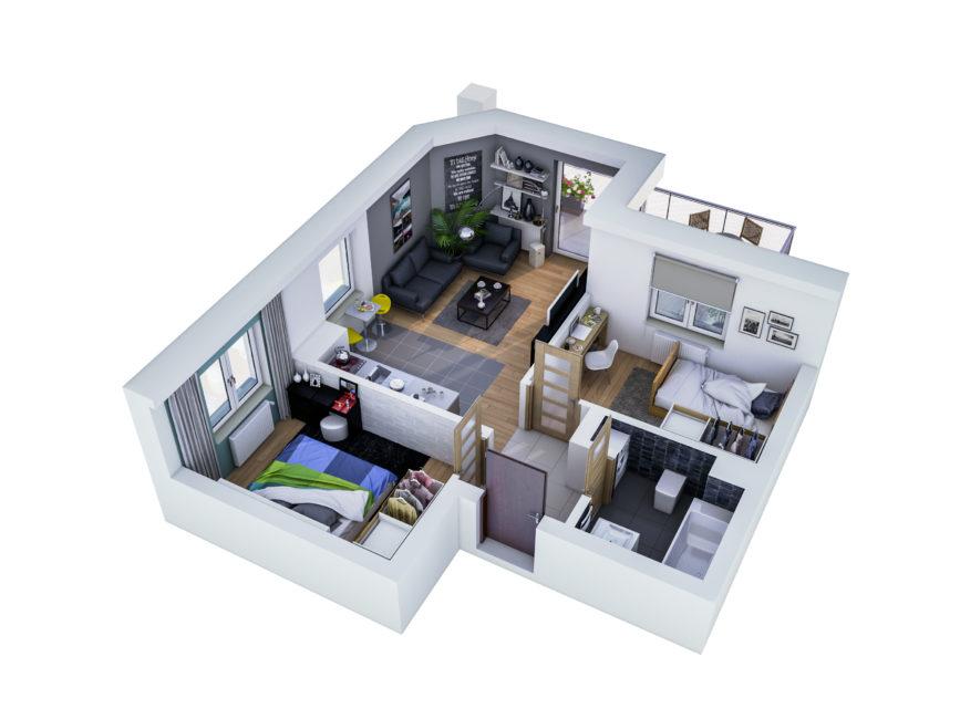 Rzut mieszkania - M7