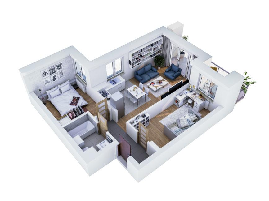 Rzut mieszkania - M8