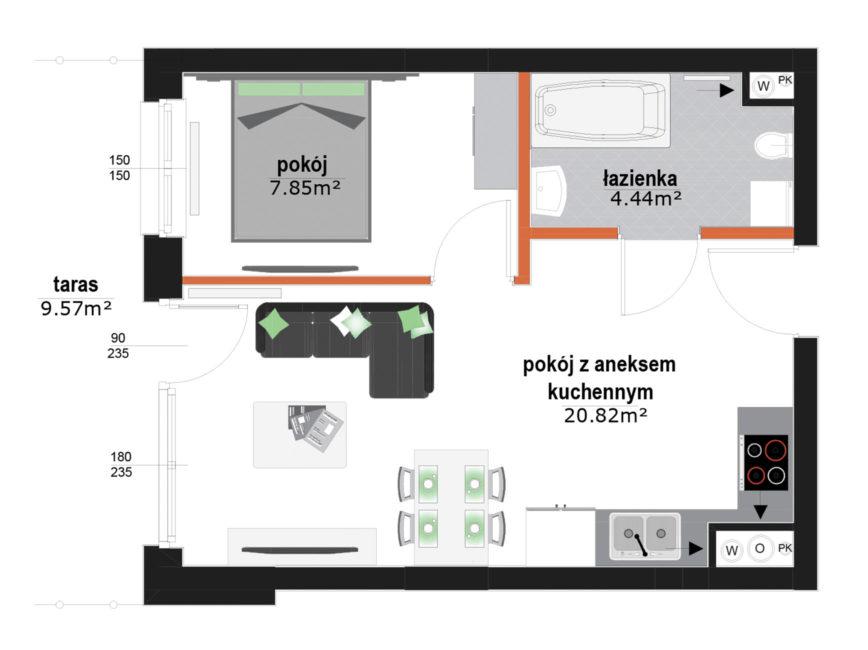 Rzut mieszkania - M4