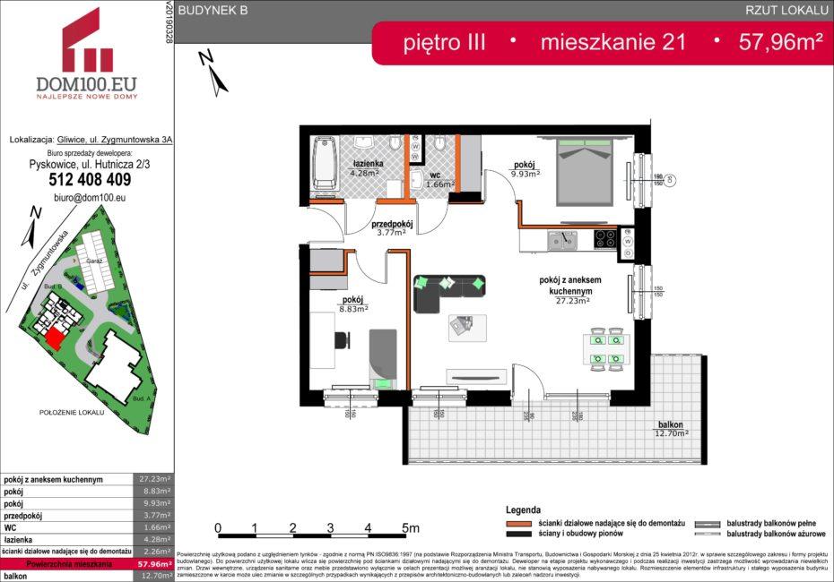 Rzut mieszkania - M21