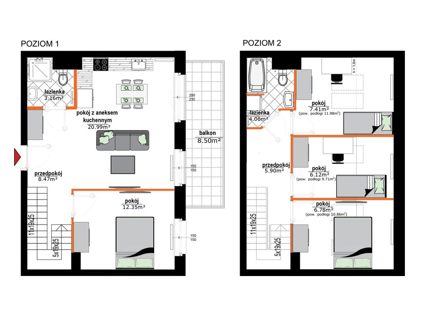 Rzut mieszkania - 16