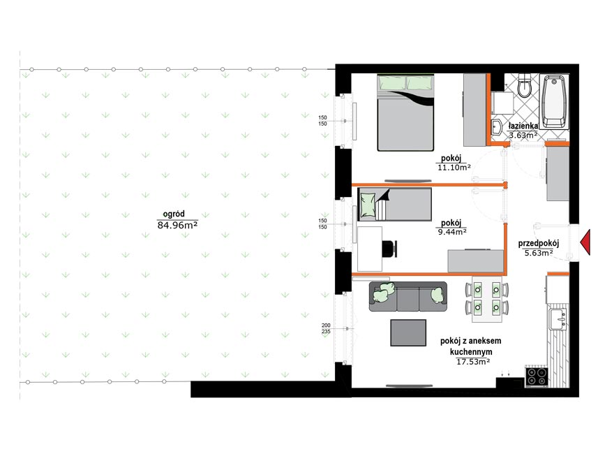 Rzut mieszkania - 4