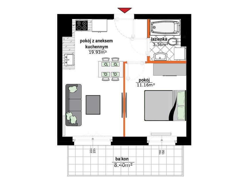 Rzut mieszkania - 9