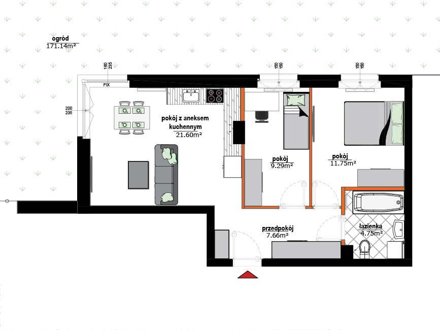 Rzut mieszkania - 1
