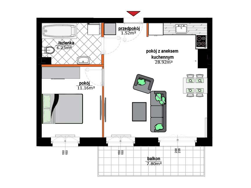 Rzut mieszkania - 10