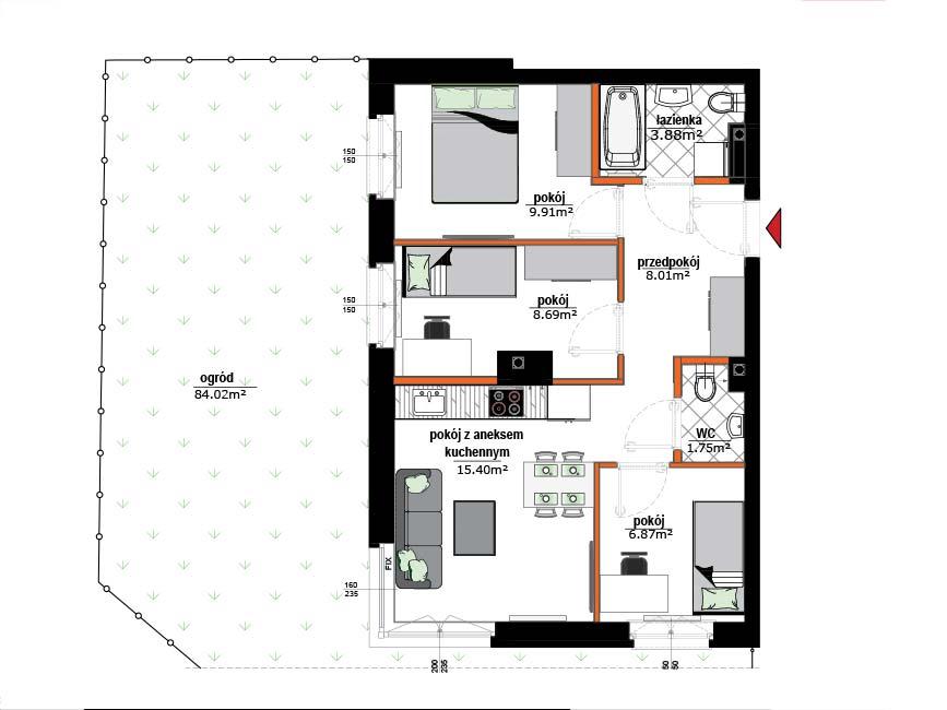 Rzut mieszkania - 2