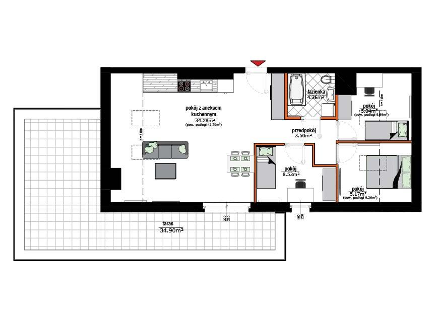 Rzut mieszkania - 21