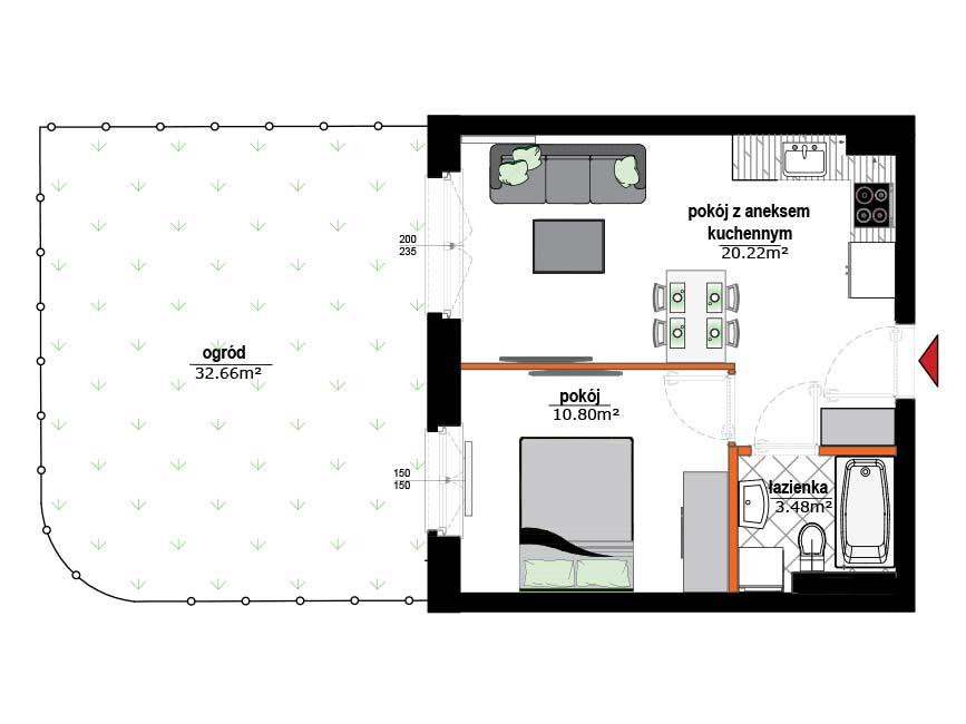 Rzut mieszkania - 3