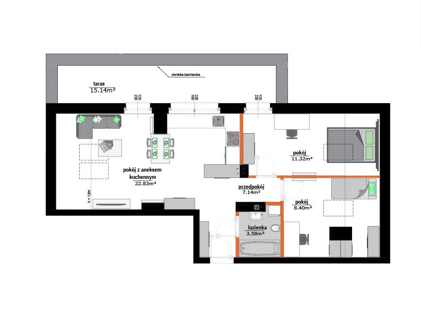 Rzut mieszkania - 19