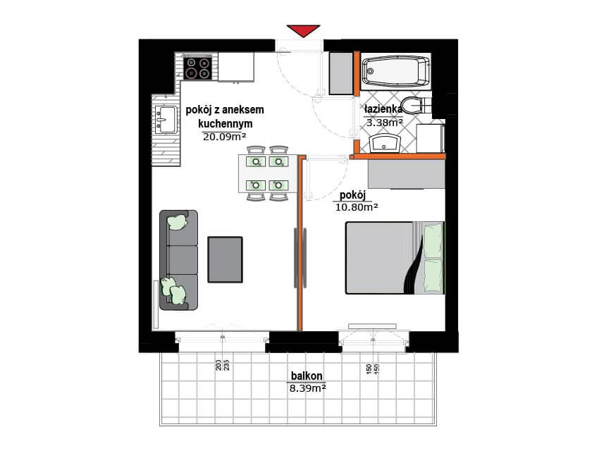 Rzut mieszkania - 15