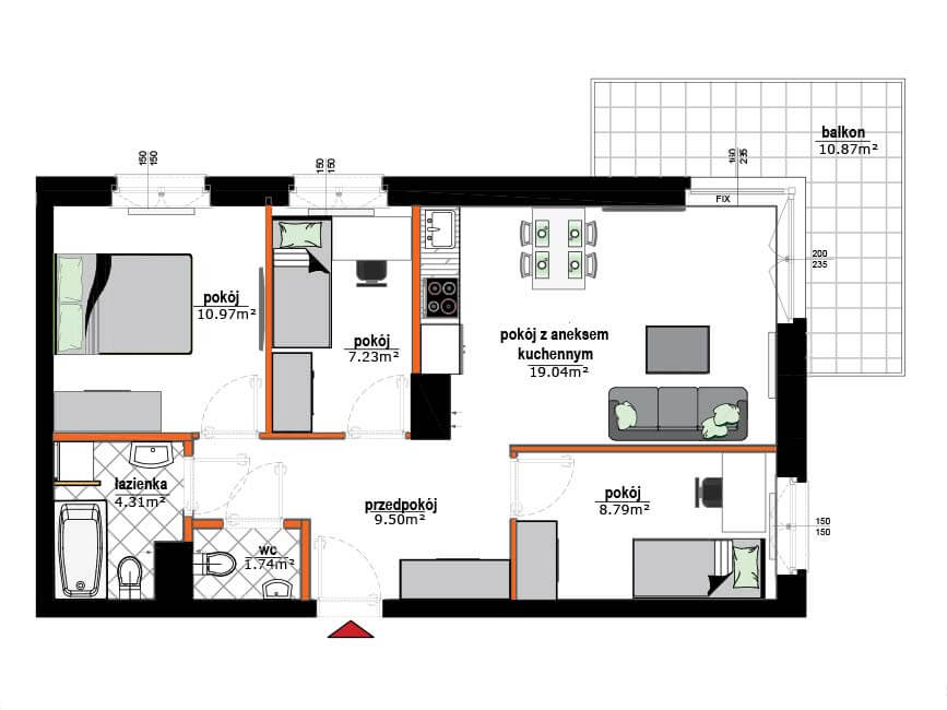 Rzut mieszkania - 18