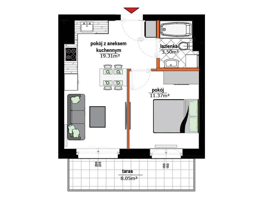 Rzut mieszkania - 20