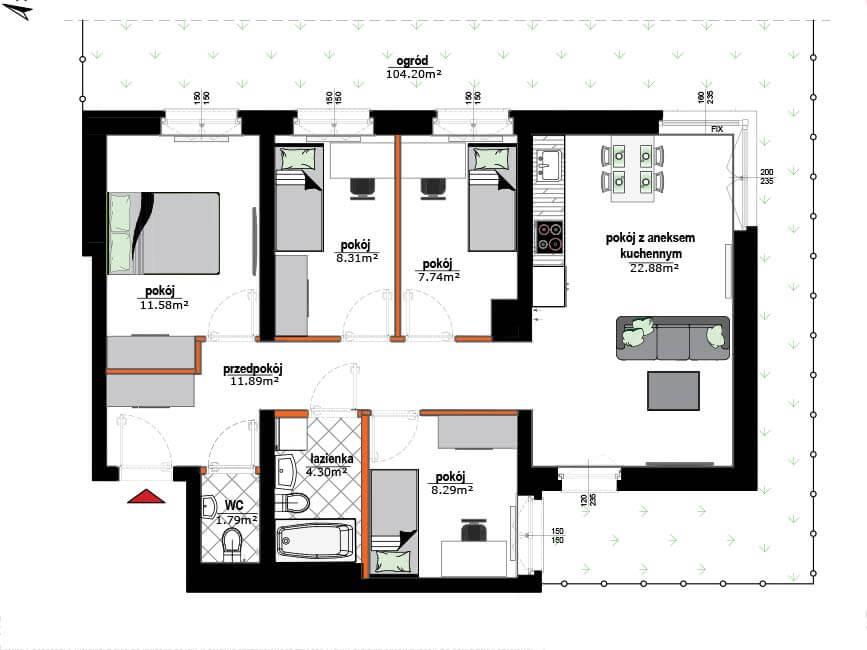 Rzut mieszkania - 5