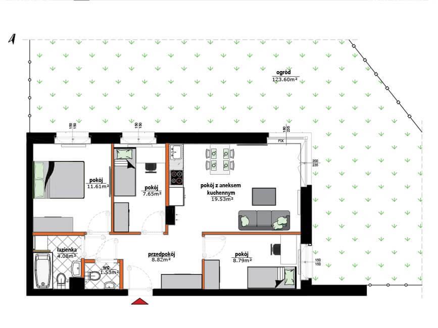 Rzut mieszkania - 6