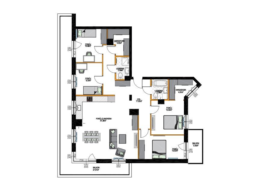 Rzut mieszkania - M24