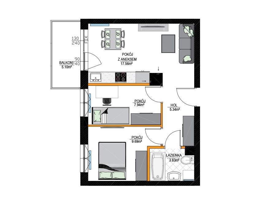 Rzut mieszkania - M05