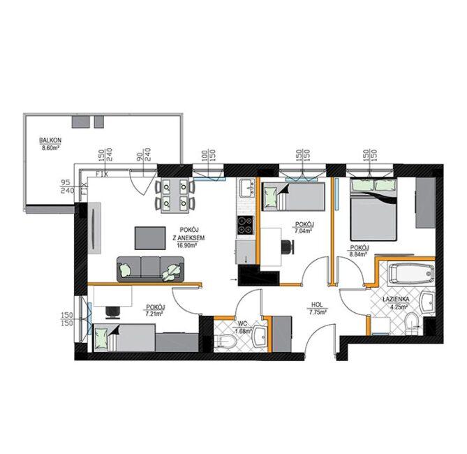 Rzut mieszkania - M10