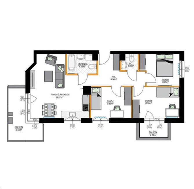 Rzut mieszkania - M07