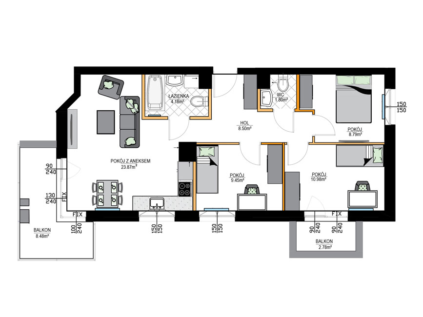 Rzut mieszkania - M11