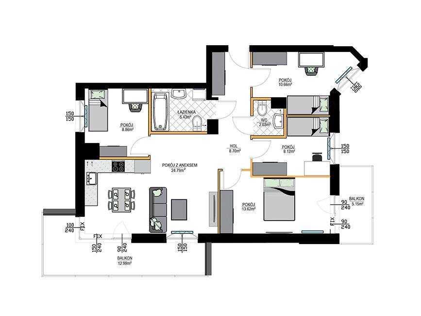 Rzut mieszkania - M04