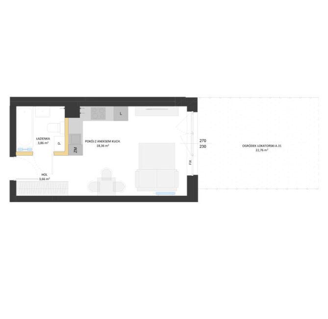 Rzut mieszkania - AM31