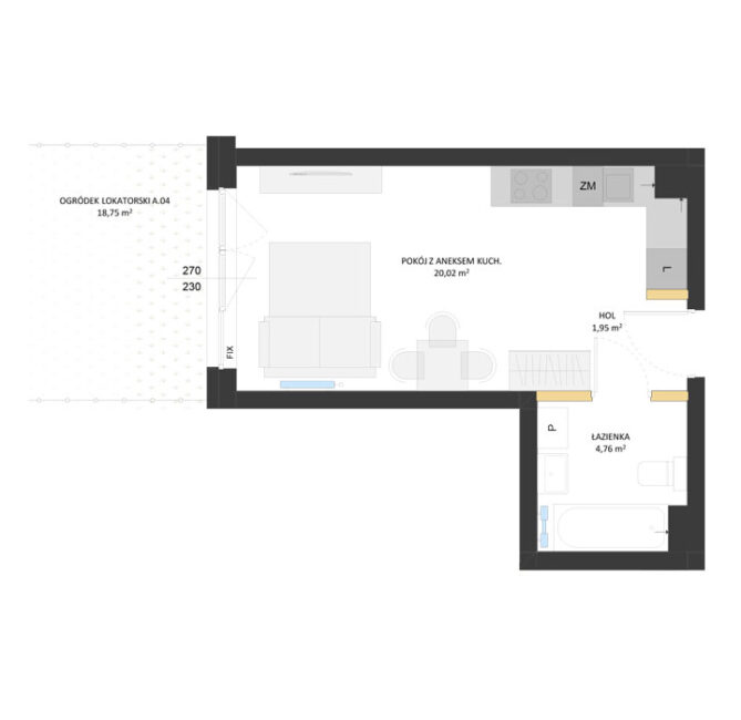 Rzut mieszkania - AM04