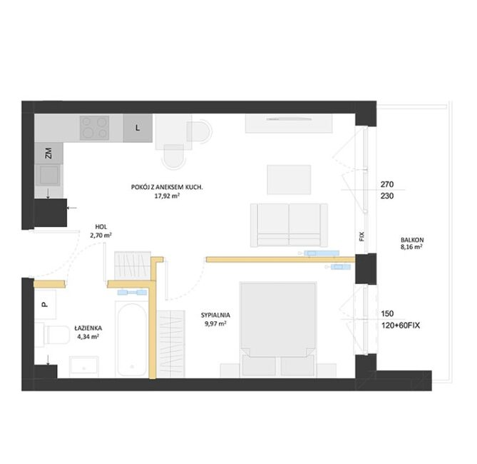 Rzut mieszkania - BM13