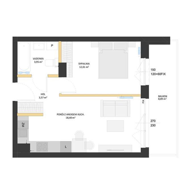 Rzut mieszkania - BM14