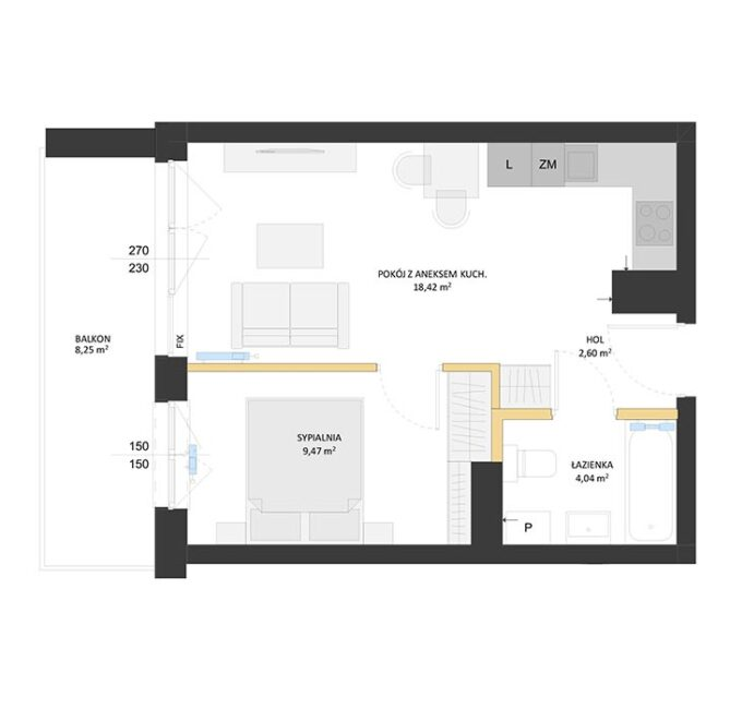 Rzut mieszkania - BM19