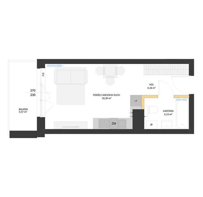 Rzut mieszkania - BM28