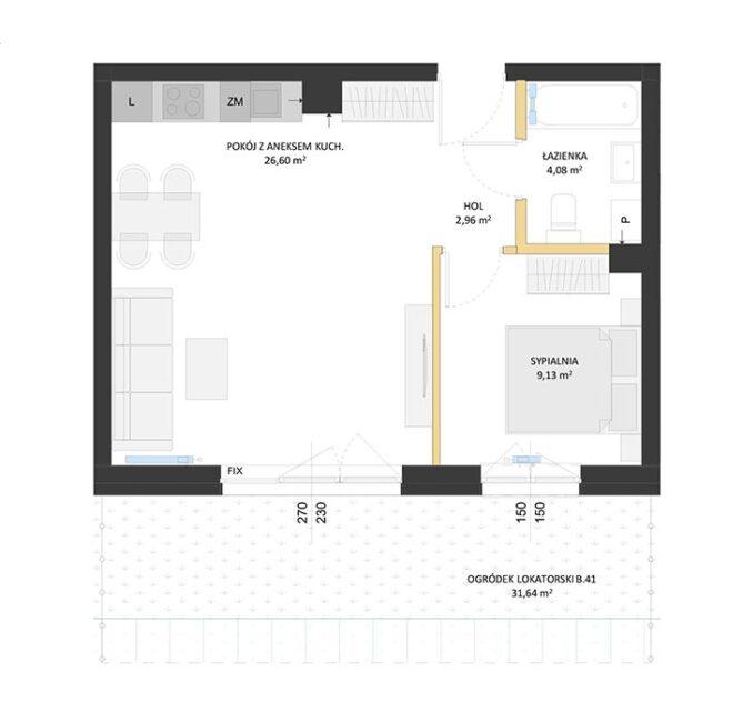 Rzut mieszkania - BM41