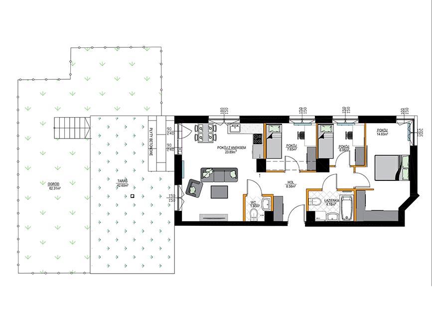 Rzut mieszkania - M03