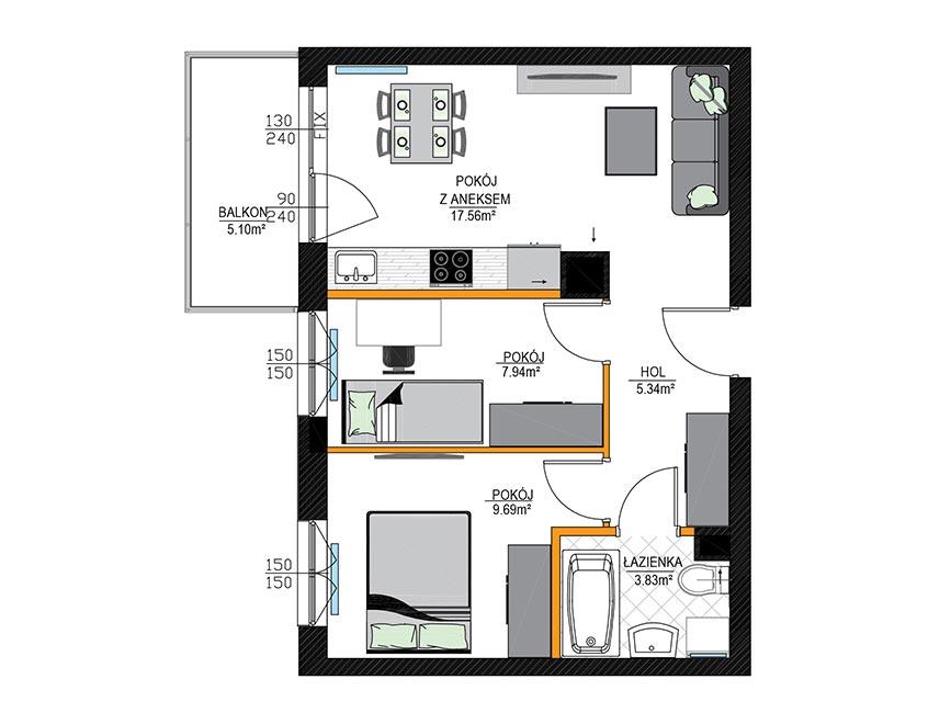 Rzut mieszkania - M09